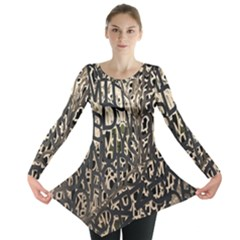Wallpaper Texture Pattern Design Ornate Abstract Long Sleeve Tunic