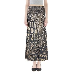 Wallpaper Texture Pattern Design Ornate Abstract Maxi Skirts