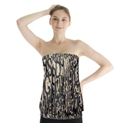 Wallpaper Texture Pattern Design Ornate Abstract Strapless Top