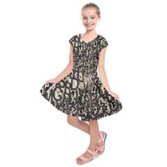 Wallpaper Texture Pattern Design Ornate Abstract Kids  Short Sleeve Dress