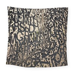 Wallpaper Texture Pattern Design Ornate Abstract Square Tapestry (large)