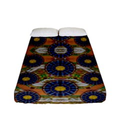 Fleur Flower Porcelaine In Calm Fitted Sheet (Full/ Double Size)