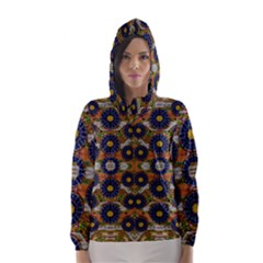 Fleur Flower Porcelaine In Calm Hooded Wind Breaker (Women)