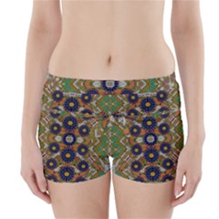 Fleur Flower Porcelaine In Calm Boyleg Bikini Wrap Bottoms