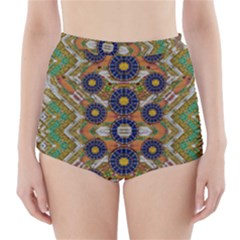 Fleur Flower Porcelaine In Calm High-Waisted Bikini Bottoms