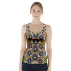 Fleur Flower Porcelaine In Calm Racer Back Sports Top