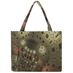 Geometric Fractal Cuboid Menger Sponge Geometry Mini Tote Bag