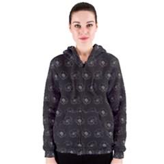 Floral pattern Women s Zipper Hoodie