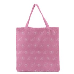 Pink pattern Grocery Tote Bag