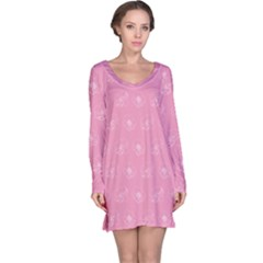 Pink pattern Long Sleeve Nightdress