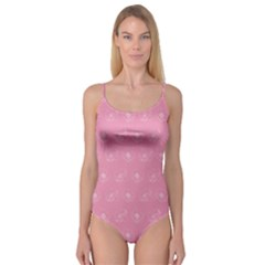 Pink pattern Camisole Leotard