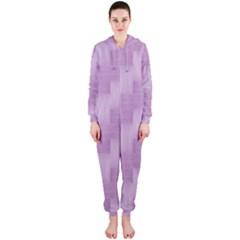Purple pattern Hooded Jumpsuit (Ladies)