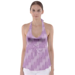 Purple pattern Babydoll Tankini Top