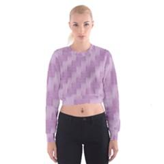 Purple pattern Women s Cropped Sweatshirt
