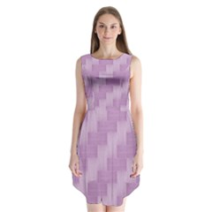 Purple Pattern Sleeveless Chiffon Dress