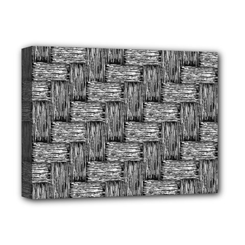 Gray Pattern Deluxe Canvas 16  X 12