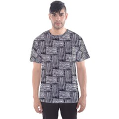 Gray pattern Men s Sport Mesh Tee