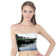 Golden Retriver Love W Pic Tube Top