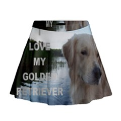 Golden Retriver Love W Pic Mini Flare Skirt