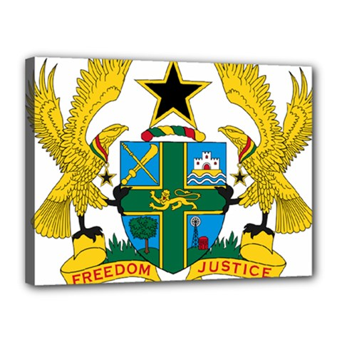 Coat of Arms of Ghana Canvas 16  x 12