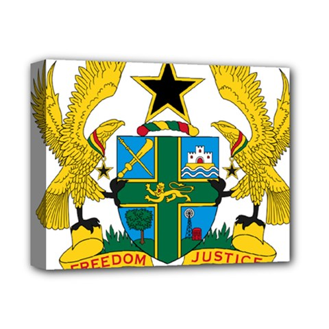 Coat of Arms of Ghana Deluxe Canvas 14  x 11
