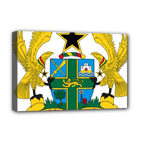 Coat of Arms of Ghana Deluxe Canvas 18  x 12