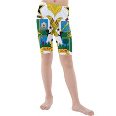Coat of Arms of Ghana Kids  Mid Length Swim Shorts