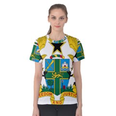 Coat of Arms of Ghana Women s Cotton Tee