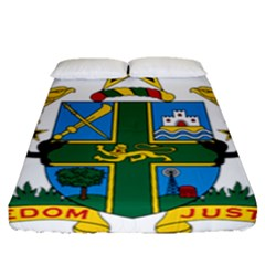 Coat of Arms of Ghana Fitted Sheet (Queen Size)