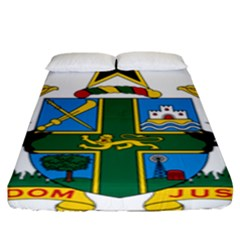 Coat of Arms of Ghana Fitted Sheet (King Size)