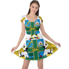 Coat of Arms of Ghana Cap Sleeve Dresses