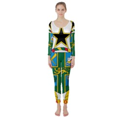 Coat of Arms of Ghana Long Sleeve Catsuit