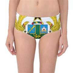 Coat of Arms of Ghana Mid-Waist Bikini Bottoms