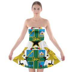 Coat of Arms of Ghana Strapless Bra Top Dress