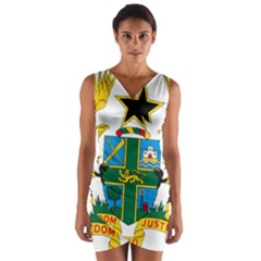 Coat of Arms of Ghana Wrap Front Bodycon Dress