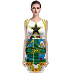Coat of Arms of Ghana Classic Sleeveless Midi Dress