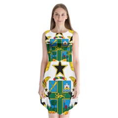 Coat of Arms of Ghana Sleeveless Chiffon Dress
