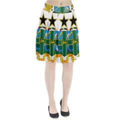 Coat of Arms of Ghana Pleated Skirt