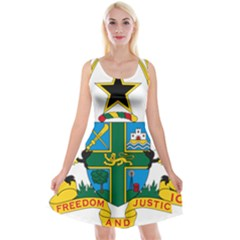 Coat of Arms of Ghana Reversible Velvet Sleeveless Dress