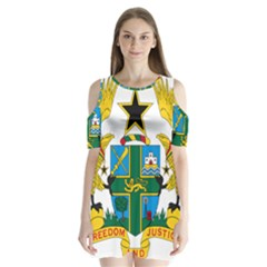 Coat of Arms of Ghana Shoulder Cutout Velvet  One Piece