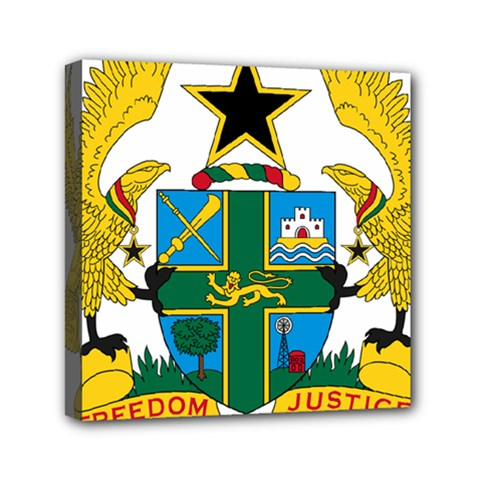 Coat of Arms of Ghana Mini Canvas 6  x 6