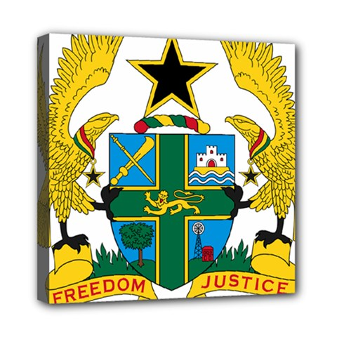Coat of Arms of Ghana Mini Canvas 8  x 8