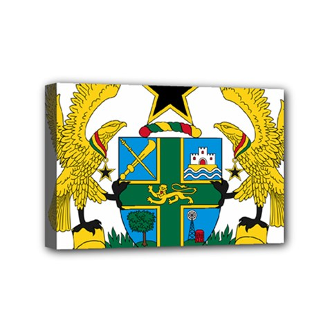 Coat of Arms of Ghana Mini Canvas 6  x 4