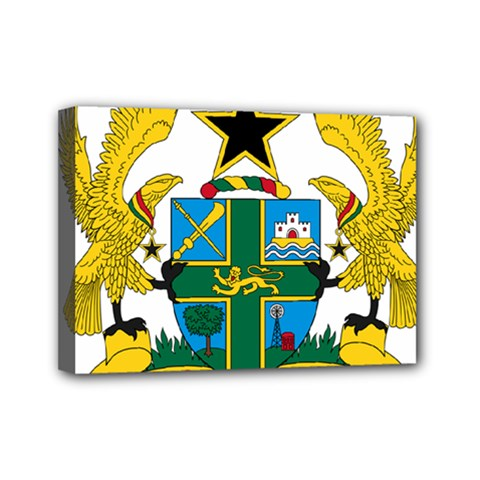 Coat of Arms of Ghana Mini Canvas 7  x 5