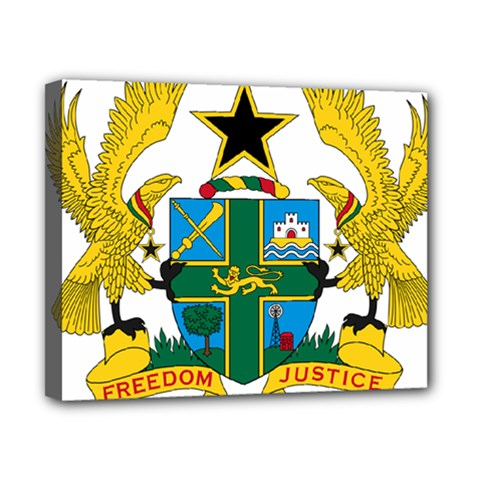 Coat of Arms of Ghana Canvas 10  x 8