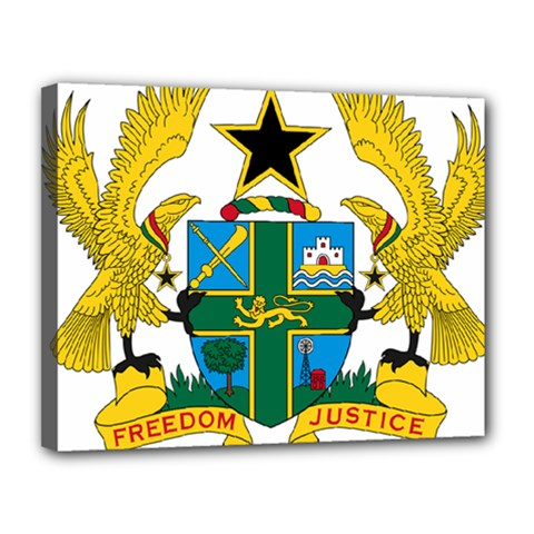 Coat of Arms of Ghana Canvas 14  x 11