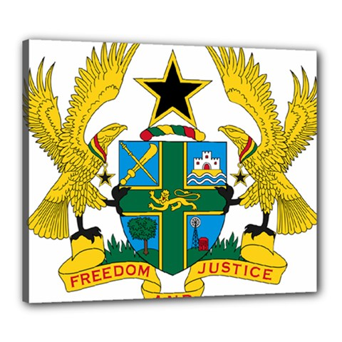 Coat of Arms of Ghana Canvas 24  x 20