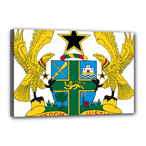 Coat of Arms of Ghana Canvas 18  x 12