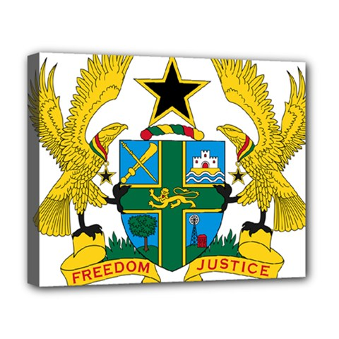 Coat of Arms of Ghana Deluxe Canvas 20  x 16
