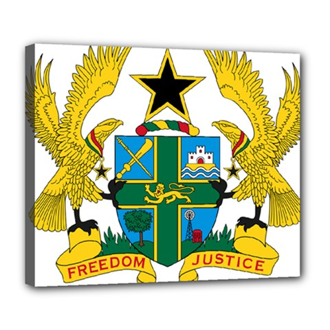 Coat of Arms of Ghana Deluxe Canvas 24  x 20